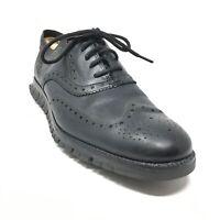Men's Cole Haan ZeroGrand Oxfords Shoes Size 11.5 Black Leather Wingtip K11