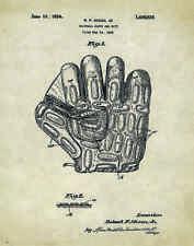 Baseball Gloves US Patent Poster Art Print 11x14 Shoes Little League PAT27