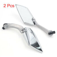 Universal Chrome Motorcycle Scooter Rearview Rear View Side Mirror 8mm 10mm Pair