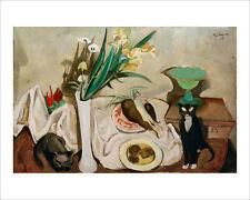 Beckmann - Still Life with Cats 1917 fine art print poster wall art various size