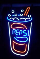 """Pepsi Drink 20""""x16"""" Neon Sign Light Lamp Beer Bar With Dimmer"""