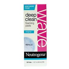 Neutrogena Wave Deep Clean Foaming Pads Refill 30 Pads Discontinued NIB HTF