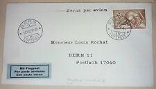 Brief Biel Bienne Schweiz 1929 Luftpost Flugpost Bern (78