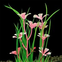 1Pc Mixed Artificial Aquarium Fish Tank Green Grass Plant Plastic Decorati
