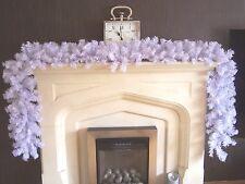 Qualità Extra spesso 2.7m larghezza Bianco Natale ghirlanda decorazione cablata Swag 9ft