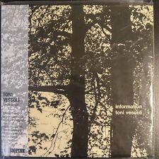 "TONI VESCOLI  ""INFORMATION""  MINI LP CD Limited Edition Import"