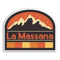 2 x 10cm La Massana Andorra Vinyl Stickers - Fun Sticker Laptop Luggage #33102