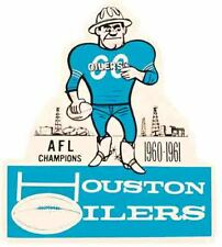 Houston Oilers  Vintage Looking  1961 NFL AFL   Football   Decal  Sticker Champs