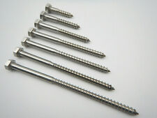 DIN 571  8x 80 Edelstahl A2 Gestellschraube Schlüsselschraube