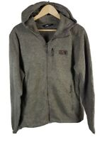 Mens The North Face Zip Through Fleece Lined Jacket Sherpa Medium Size M Grey