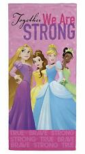 Disney Princess Power Beach Towel Belle Cinderella Rapunzel Tiana