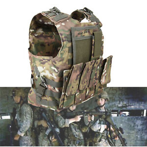 Tactical Military Vest Army Paintball Airsoft Combat Assault Armor Adjustable