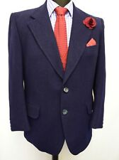 MS1744 MEN'S NAVY TWEED LIKE BLAZER JACKET SIZE 42 UK