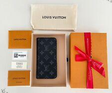 AUTHENTIC LOUIS VUITTON Monogram Eclipse iPhone XS MAX Folio Case Black M67484
