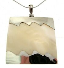 Cream Shell Pendants 925 Silver Statement Necklaces For Women 114131