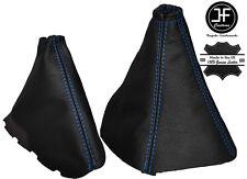 Manual De Costura Azul Cuero Gear Polaina De Freno De Mano Para Kia Sorento 2002-2006
