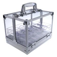 600PCS Portable Poker Chips Koffer Koffer große Fälle mit 6 Schalen Acryl