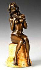 Bronzefigur Stilvoller erotischer Bronze Akt auf Marmorsockel signiert Raymondo