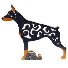 Doberman figurine, dog statue made of wood (MDF), hand-paint