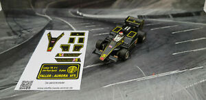 "AURORA AFX G-Plus Repro Paper Sticker Lotus '78 F1 ""John Player Spezial"""