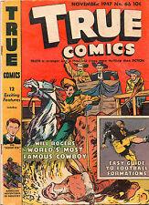 True Comics #66 - Will Rogers Cover & Story - 1947 (Grade 5.5)