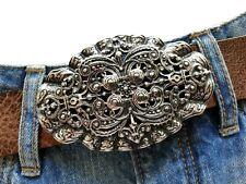 Ornament Gürtelschnalle Wechselschnalle Buckle Schließe 4cm Steampunk Barock