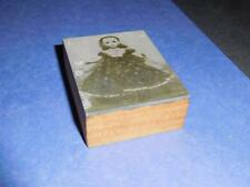 Antique Newspaper Printing Plate Metal on Wood - Copper Photograph, Cissy Doll