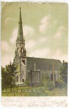 ST.PATRICK'S CHURCH MAGOG QUEBEC CANADA 1906 ANTIQUE UNDIVIDED POSTCARD
