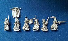 Warhammer Citadel Vampire Counts undead oop metal Grave Guard x6 inc Command