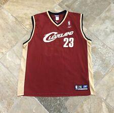 Vintage Cleveland Cavaliers LeBron James Reebok Basketball Jersey, Size XXL