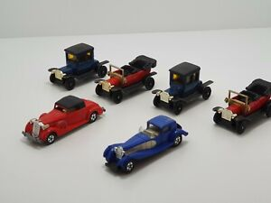 Tomica Vintage Type-T Fords, Packard, Bugatti, 1977 1978 Made In Japan