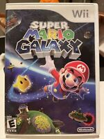 Super Mario Galaxy (Nintendo Wii, 2007) Includes game case booklet & All Inserts