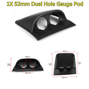 "Universal Black ABS Plastic 2"" 52mm Dual Hole Car Dash Gauge Pod Mount Holder"