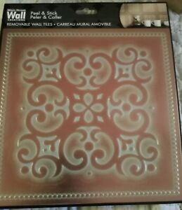 "6...Copper Patina Square 8"" x 8"" DIY Peel and Stick Tile Backsplash Made in USA"