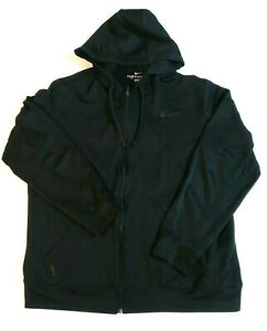 Mens Nike Size XL Hoodie Full Zip Therma Fit Swoosh Check Hooded