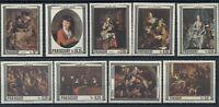 Art Paintings Rubens Hals Rembrandt Paraguay MNH stamps set