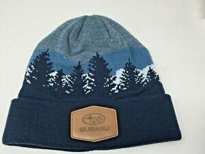 Genuine Subaru Logo Mountain Beanie Cap Hat Impreza Forester Outback Ascent Sti