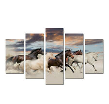 Animal Running Horses Painting 5 Pieces Canvas Wall Art Poster Print Home Decor