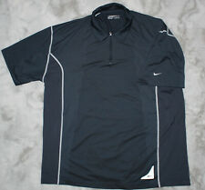 Mens Nike Fit Dry Golf Polo Navy Size Xl Tg 1/4 Zipped