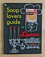 Vintage Soup Lovers Guide to Lipton Soup Mixes Recipe Booklet
