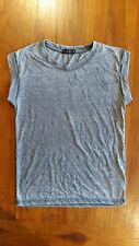 Free Fusion grey sleeveless shirt sz4 preowned Free post D65