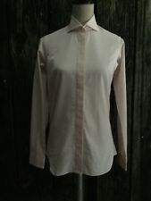RAYNER STURGES JCREW Classic Button Front long sleeve shirt Size 8 NEW PINK