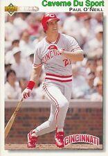 464 PAUL O'NEILL CINCINNATI REDS  BASEBALL CARD UPPER DECK 1992