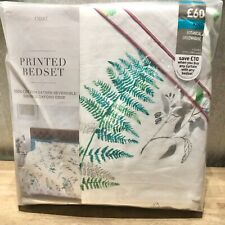 BNIP Next Bedding Botanical Greenhouse Cotton Sateen KING SIZE Duvet Set RRP £60
