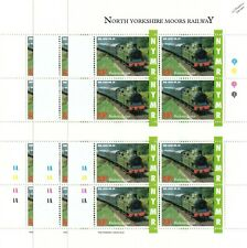 3 x 1993 NCB/Lambton Colliery No.29 Peggy NYMR Railway Letter Train Stamp Sheets