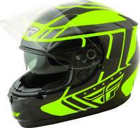 Fly Racing 73-8414 Conquest Full Face Motorcycle Helmet Hi-Viz/Black - Adult