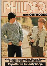 Vintage 1981 Phildar Family Knitting  Pattern Booklet 15 Designs