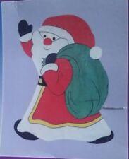 """LARGE Christmas SANTA House flag new 30"""" x 39"""" custom decor. *NEW*"""