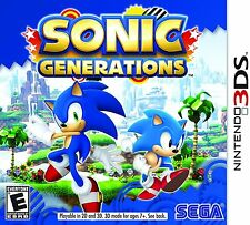 Sonic Generations (Nintendo 3DS, 2011) Brand New