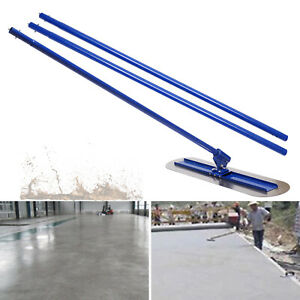 Concrete Bull Float Kit 1200mm Stainless 1 Handles + Cement Trowel Wiping Tool
